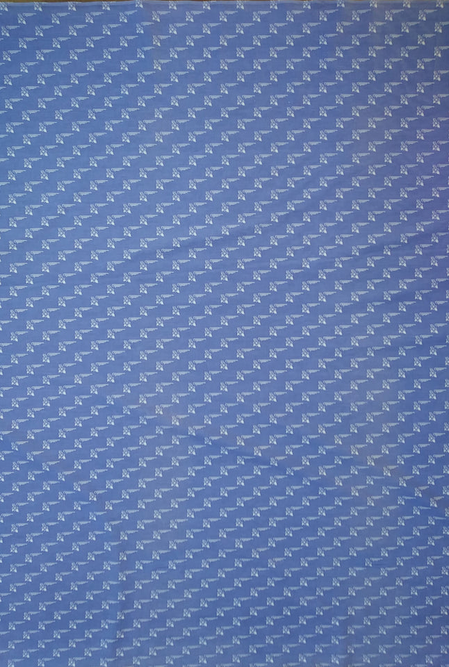 Blue Walking Sticks Fabric - Cotton
