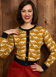 Organic Cotton Cardigan - Mustard Fox