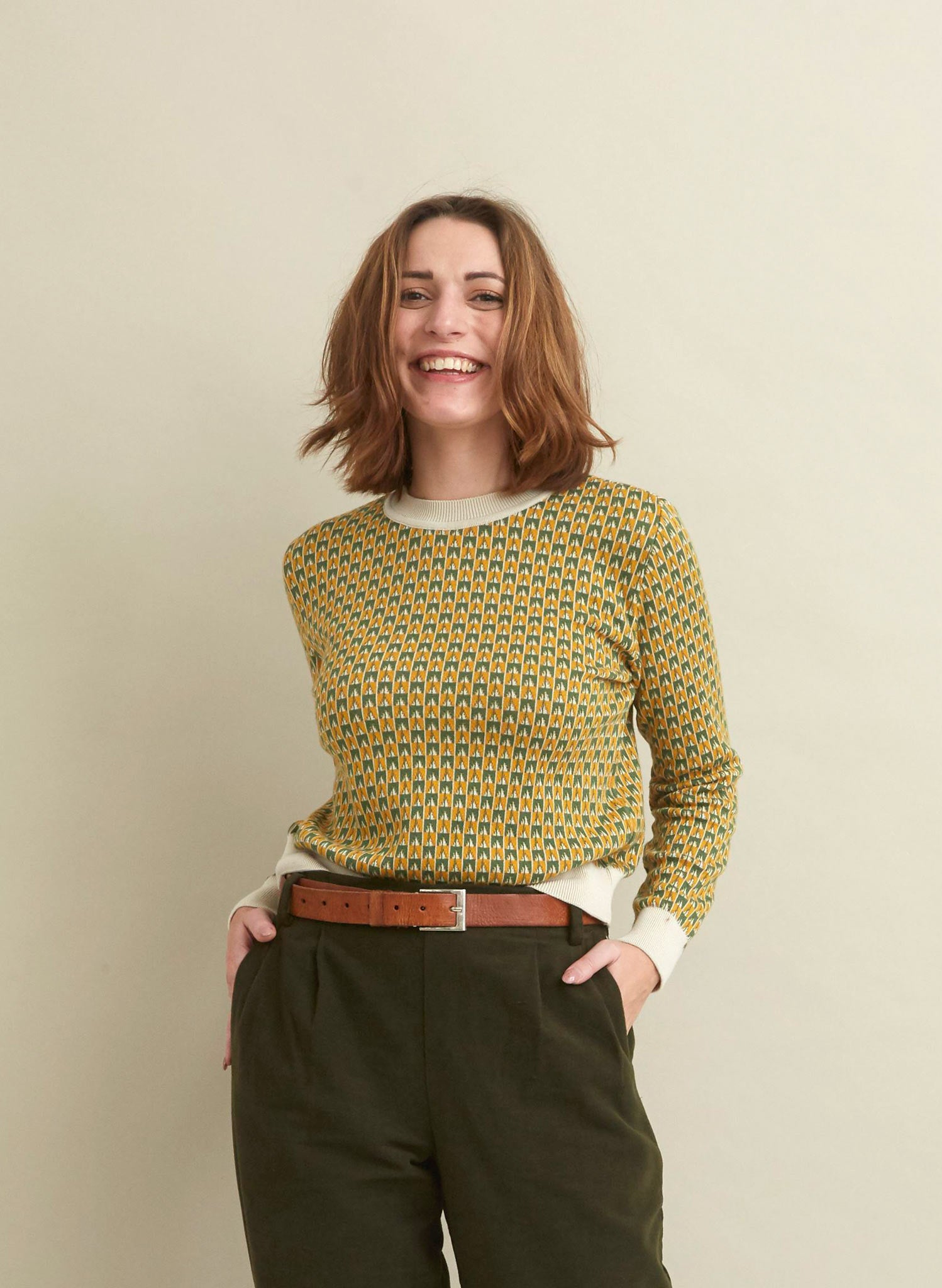 Alba - Mustard Rocket Organic Cotton Jumper