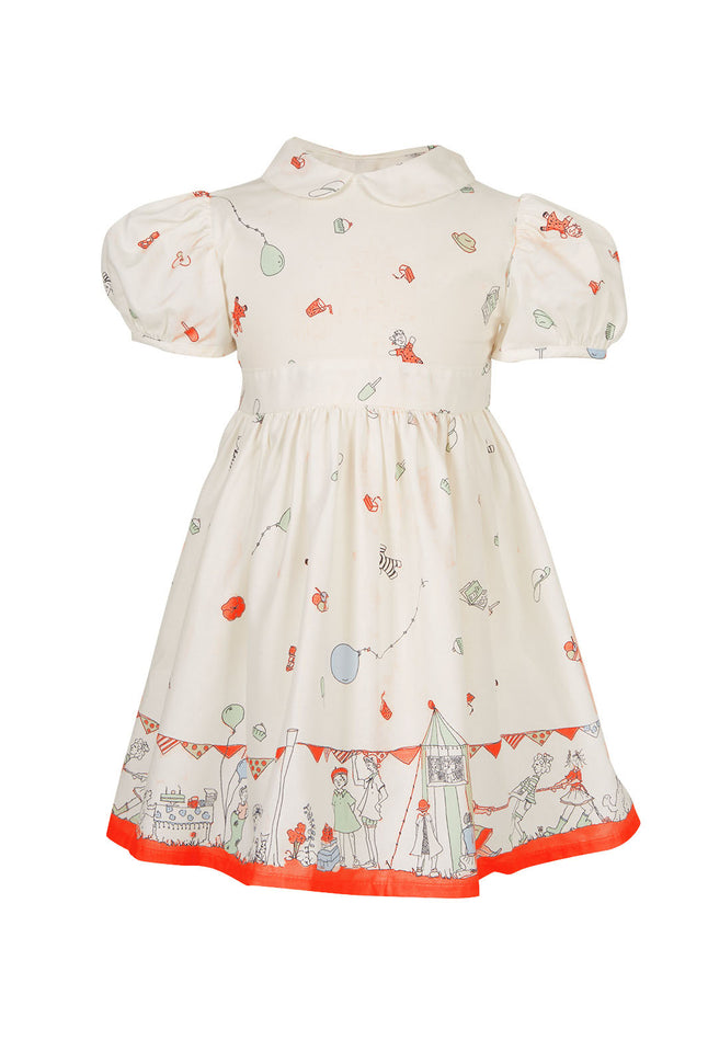 Archive sale - Alice dress - Birthday Bash Cream Red