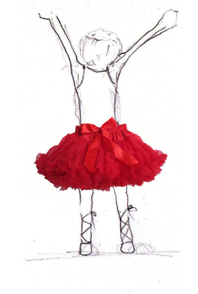Children's Petticoat - Red