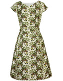 Beatrice - Lounging Leopard Print Vintage-style 1950s Dress for Women