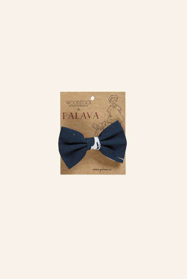 Bow Clip - Navy North Pole