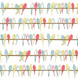 Ivory Budgies Fabric - Palava