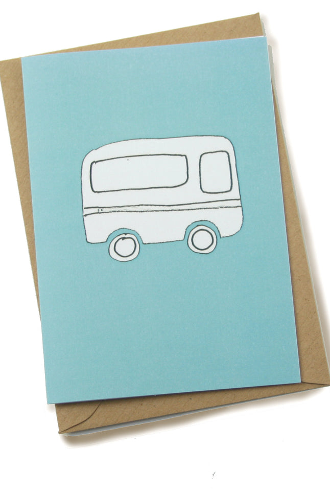 Greeting Card - Blue Caravan - Palava