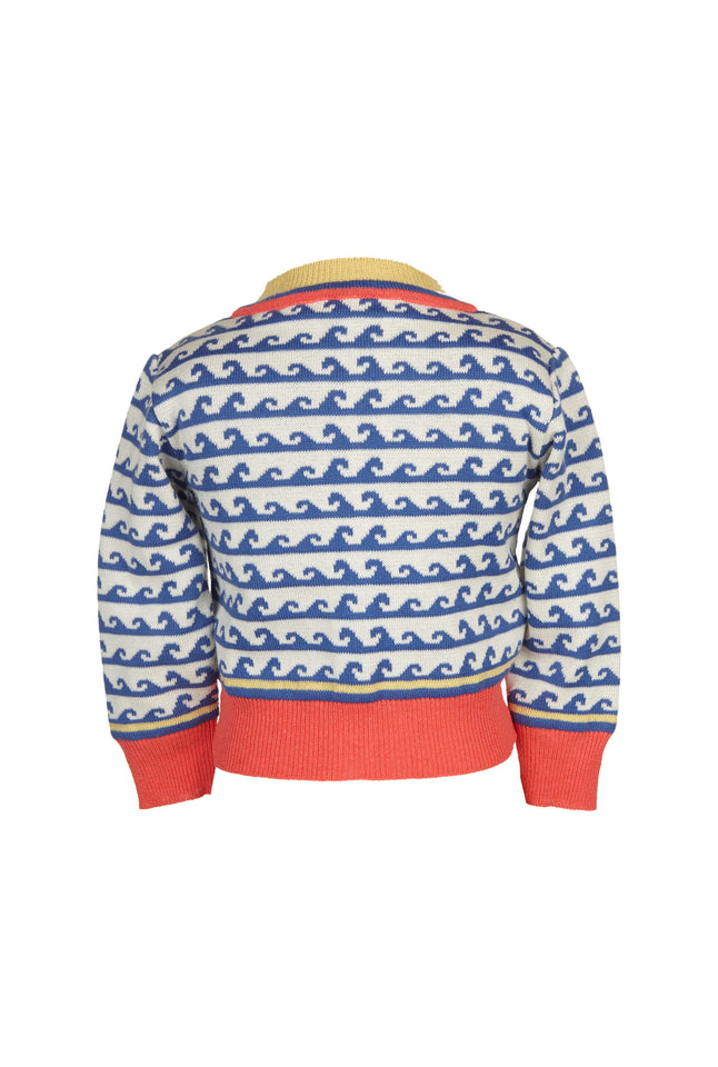 Children's Cardigan - Blue Waves - Palava