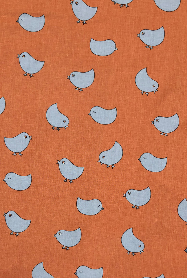 Peach Chick Fabric - Cotton