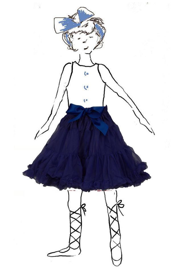 Children's Petticoat - Navy Blue