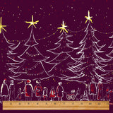Plum Christmas Fabric