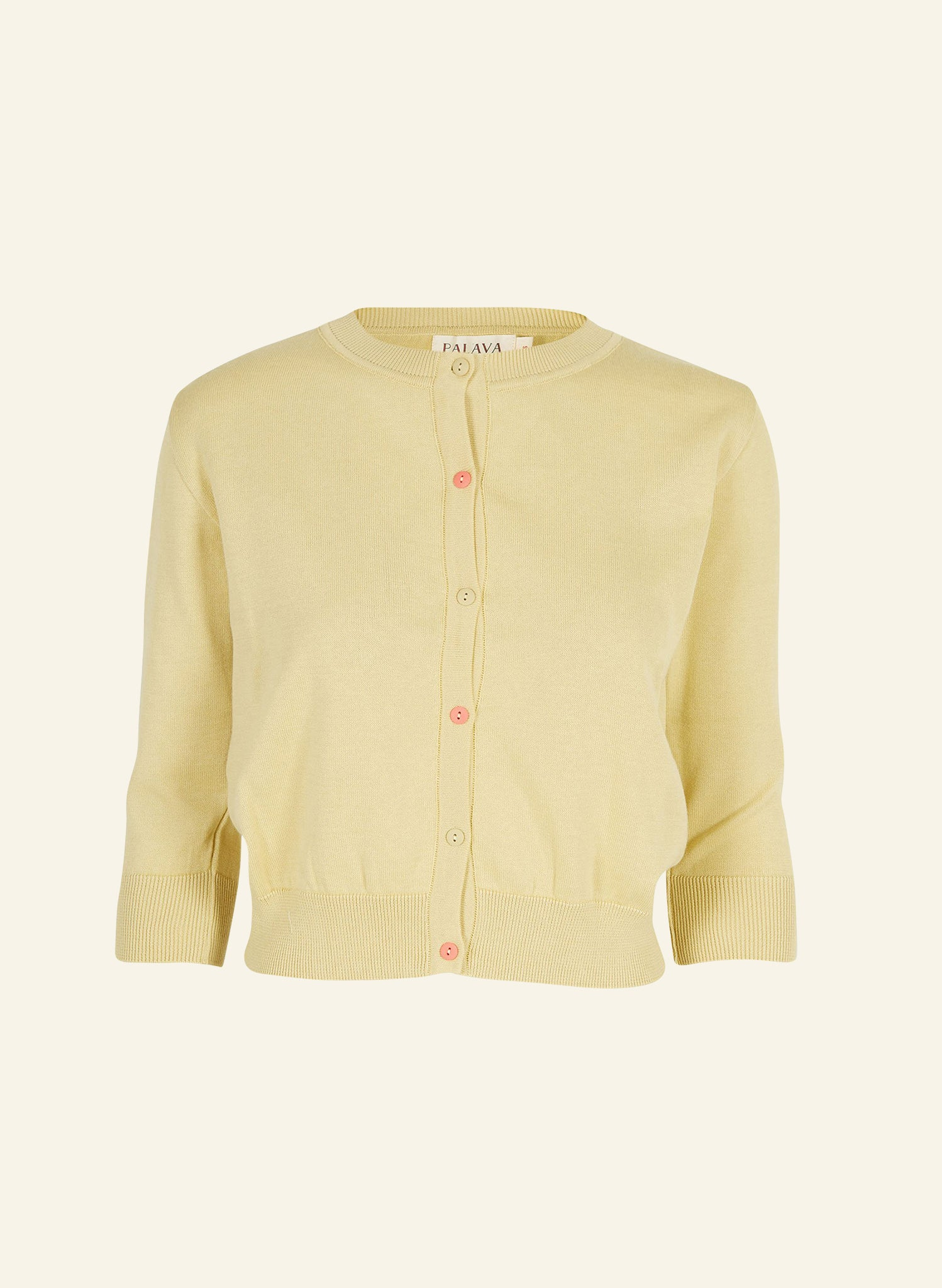 Organic Cotton Cardigan - Lemon