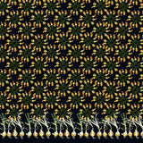 Black Courgettes Fabric - Palava