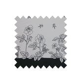 Black and White Roses Fabric