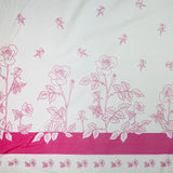 Pink and White Roses Fabric