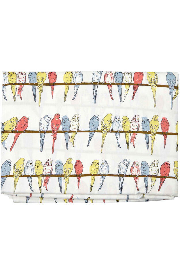 Single Duvet Cover - Ivory Budgies - Palava