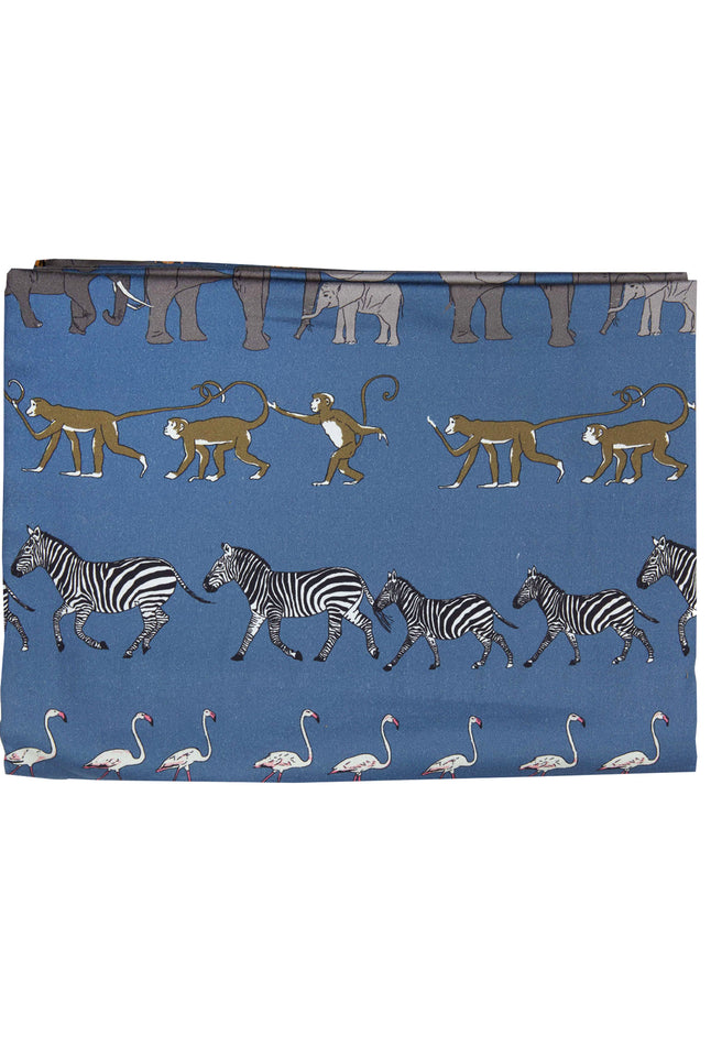 Single Duvet Cover - Blue Walking Zoo - Palava