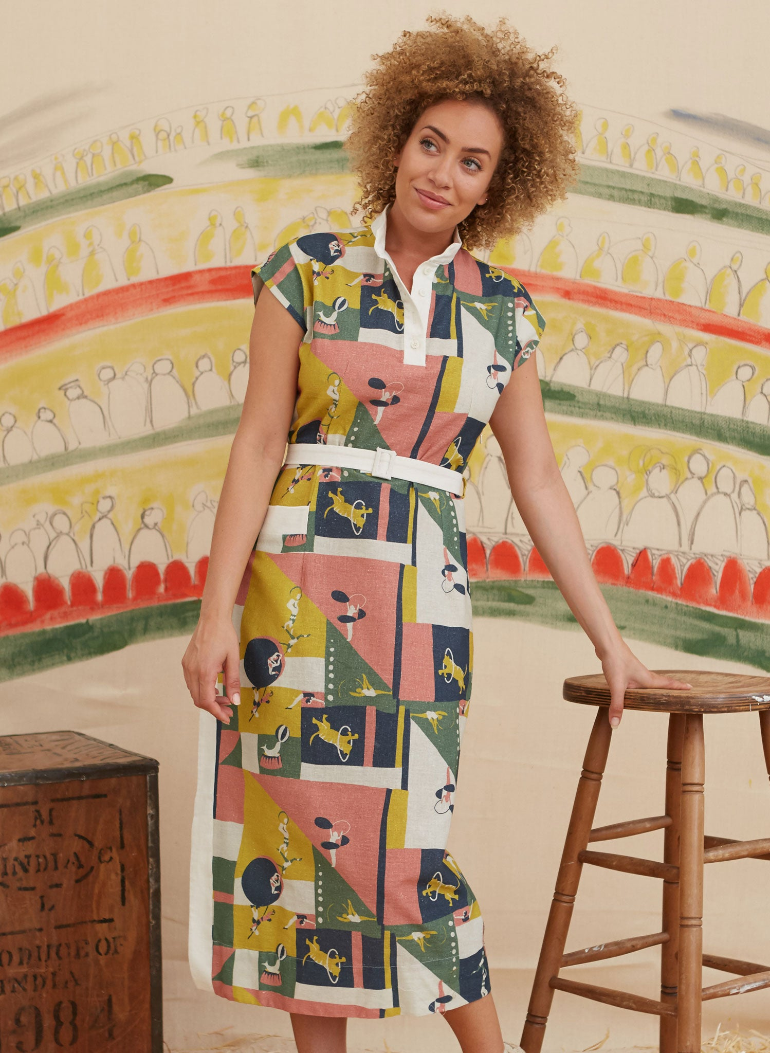 Cyd - Topsy Turvy Dress | Cotton - Linen Blend