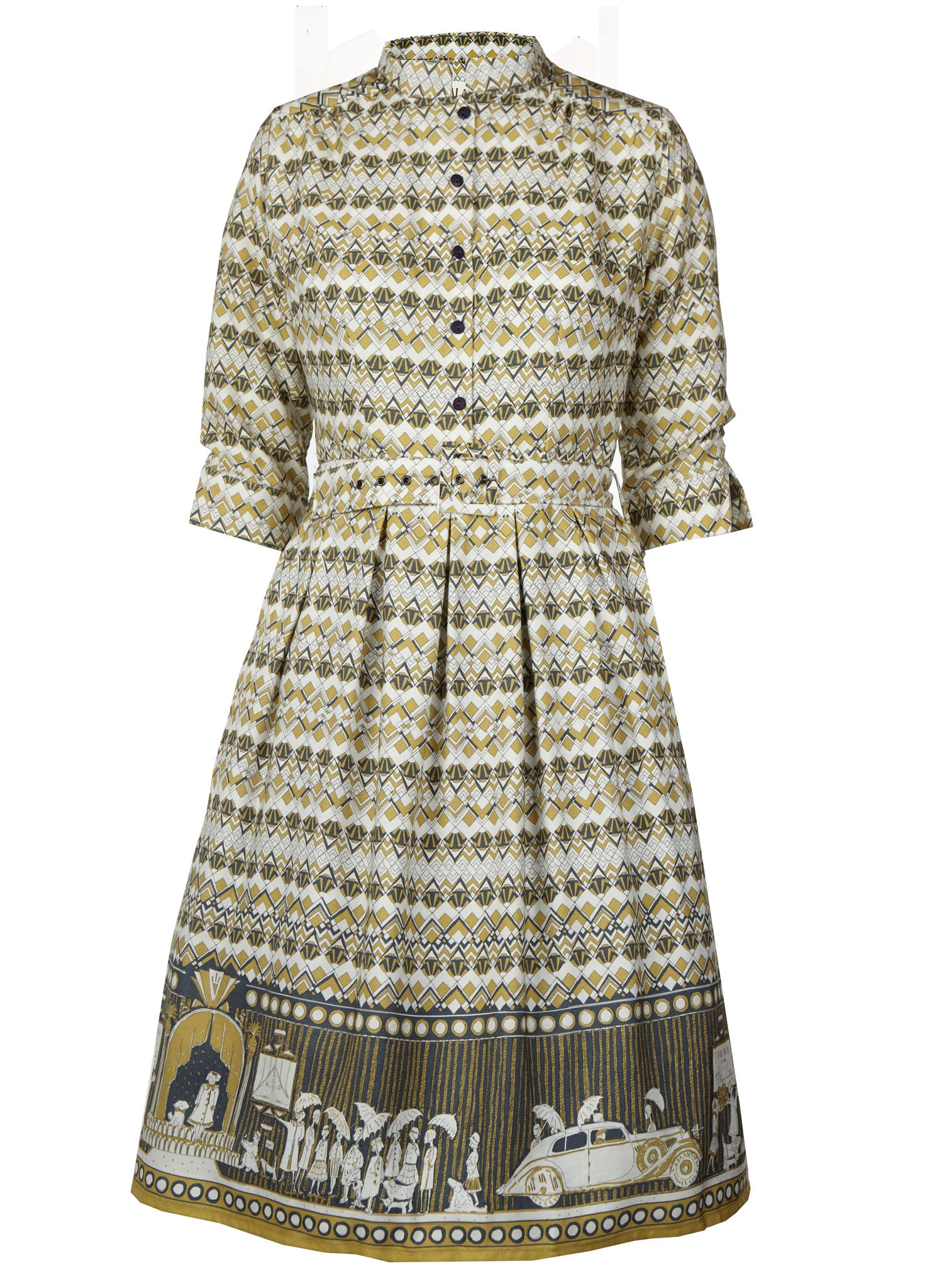 Cynthia - Ivory Moving Pictures Dress