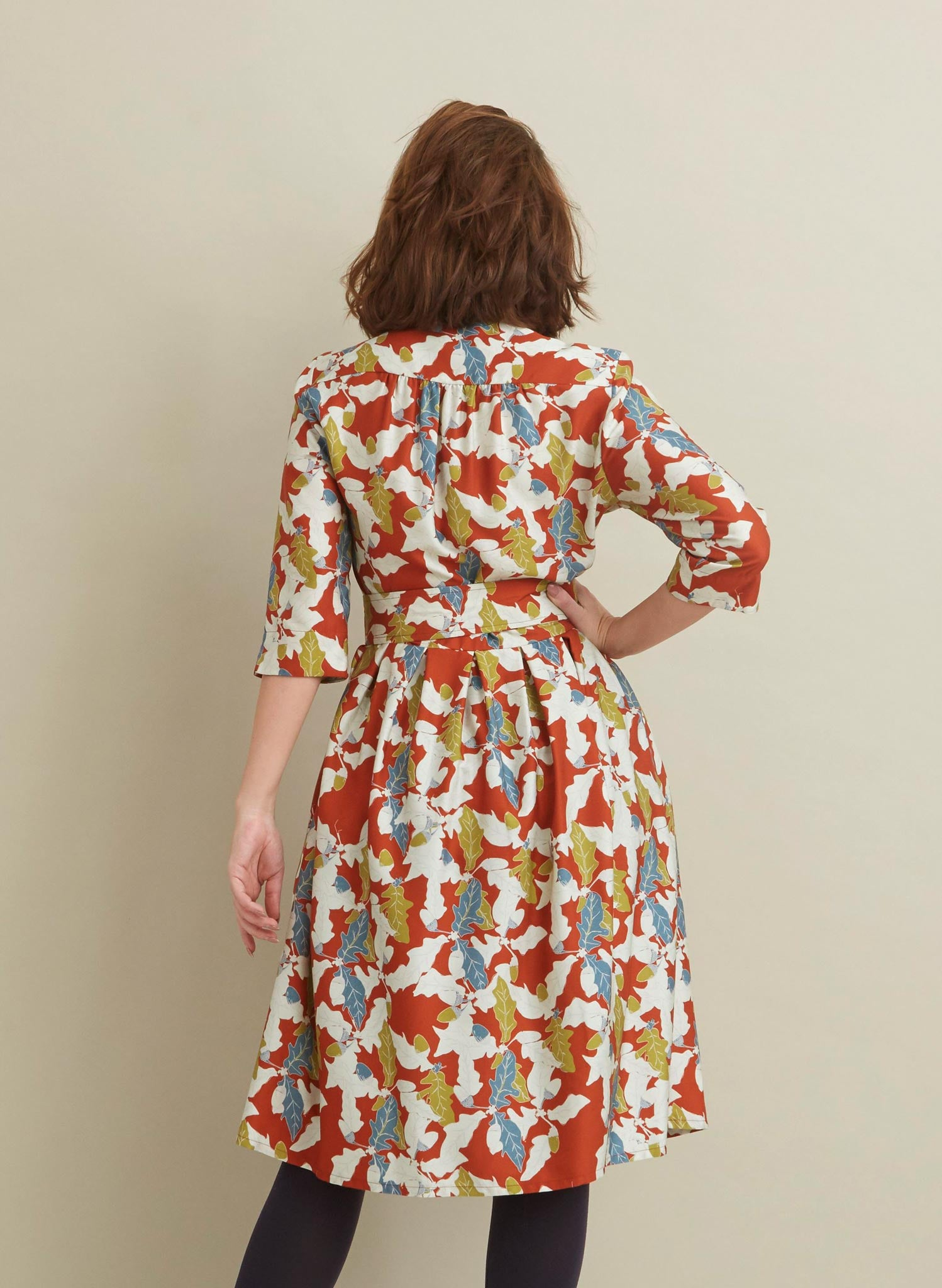 Cynthia - Rust Acorn Dress - Tencel