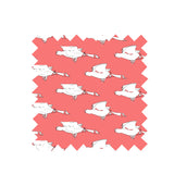 Coral Ducks Jersey Fabric - Cotton