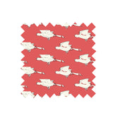 Red Ducks Fabric - Organic Cotton Twill