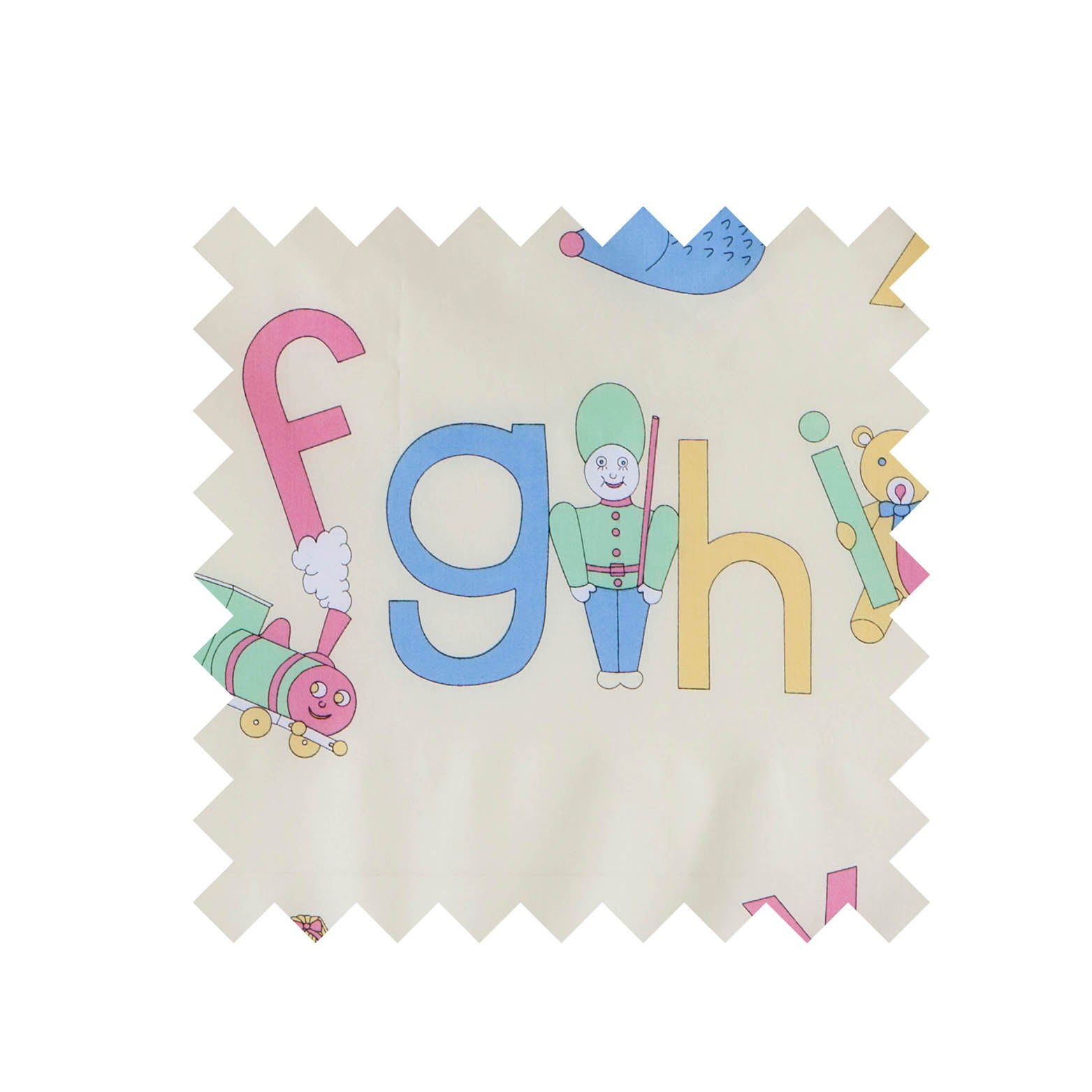 ABC Pastel Print Fabric - Cotton