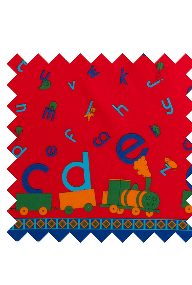 ABC primary border print fabric