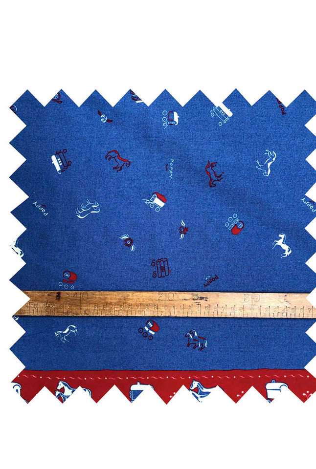 Gypsy Caravan Blue Fabric - Cotton