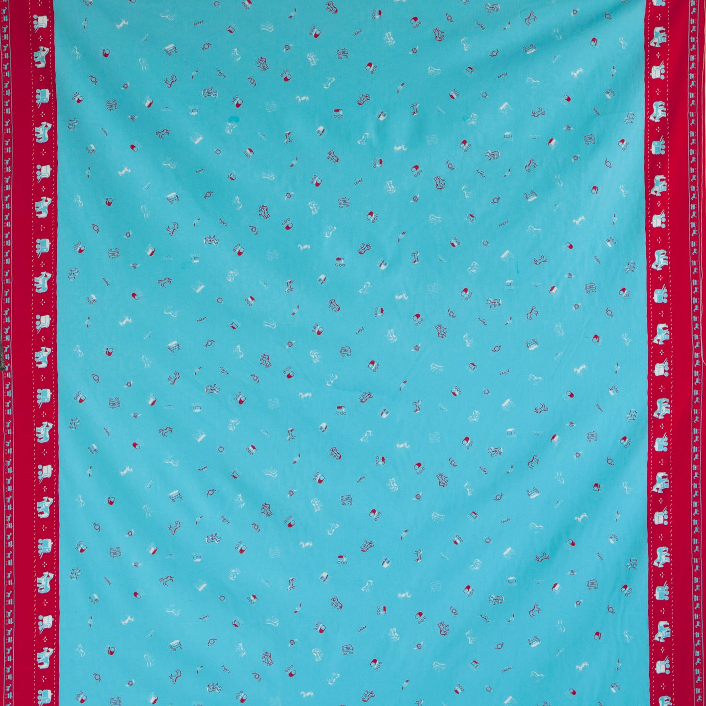 Gypsy Caravan Turquoise Fabric - Cotton