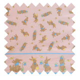 Pink Rabbit Fabric - Cotton