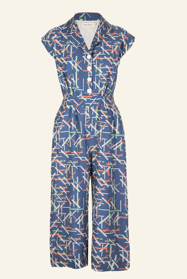 Francesca - Circus Sticks Jumpsuit | Tencel