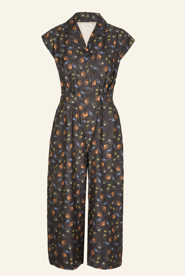 Francesca - Black Fireworks Jumpsuit | Tencel