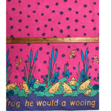 Pink Frog lily print fabric