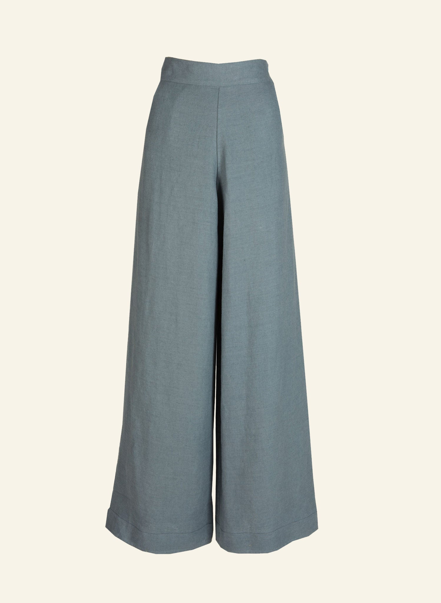 Josephine - Chalk Blue Linen Trousers