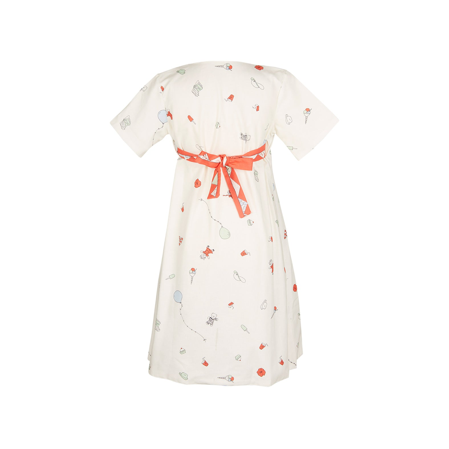 Archive sale - Junko dress - Birthday Bash Cream Red