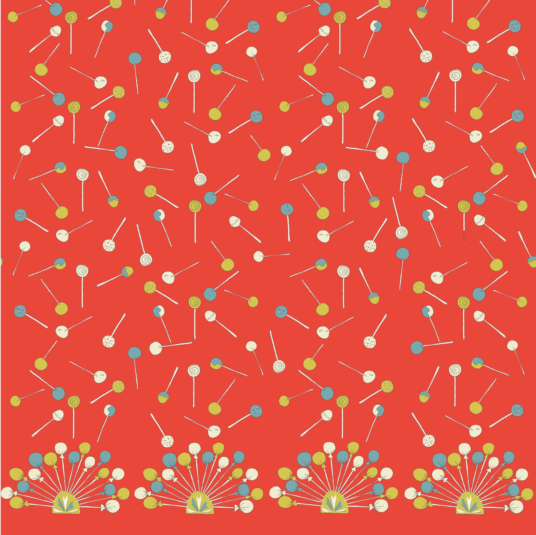 Orange Lollipop Fabric - Palava
