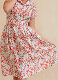 Louise - Tencel Red Pomegranate Dress