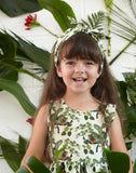 Martha - Lounging Leopard Animal Print Summer Play Dress for Girls