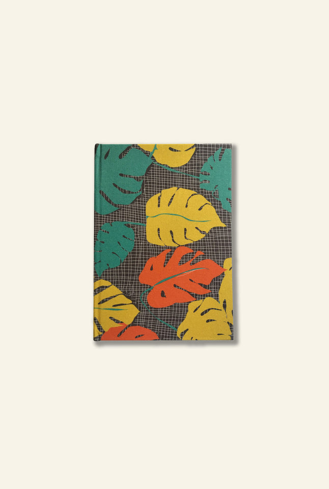 A5 Notebook - Mustard Tropical Leaf