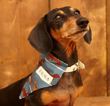 Dog Bandana - Steel Blue Sausage Dog - Palava