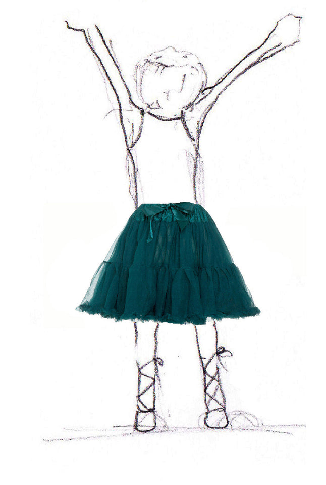 Children's Petticoat - Emerald Green