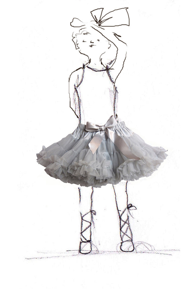 Children's Petticoat - Misty Grey