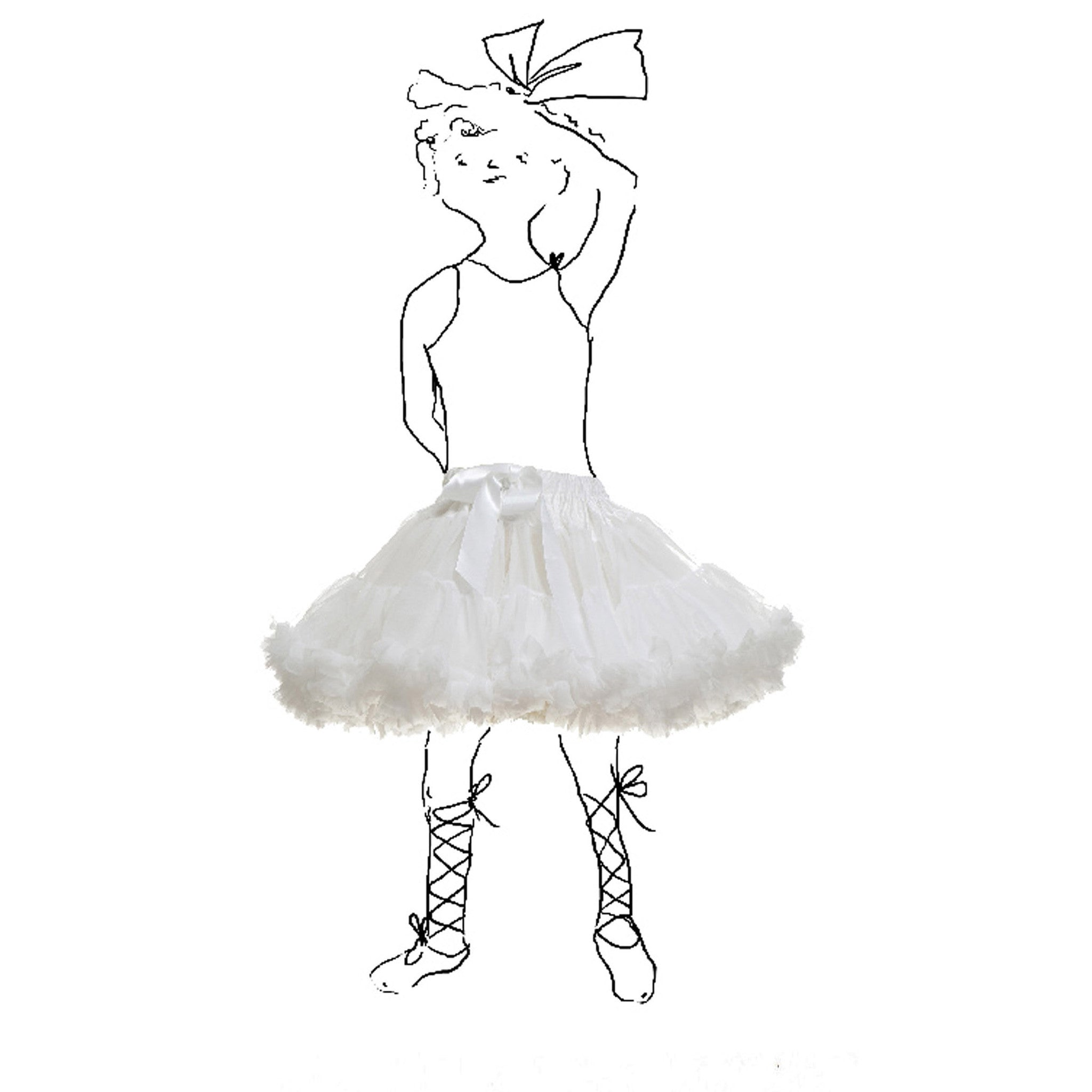 Children's Petticoat - White - Palava