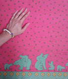Pink/Green Polar Bear Fabric