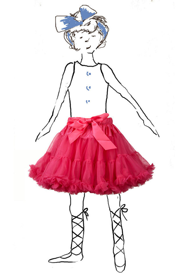Children's Petticoat - Raspberry