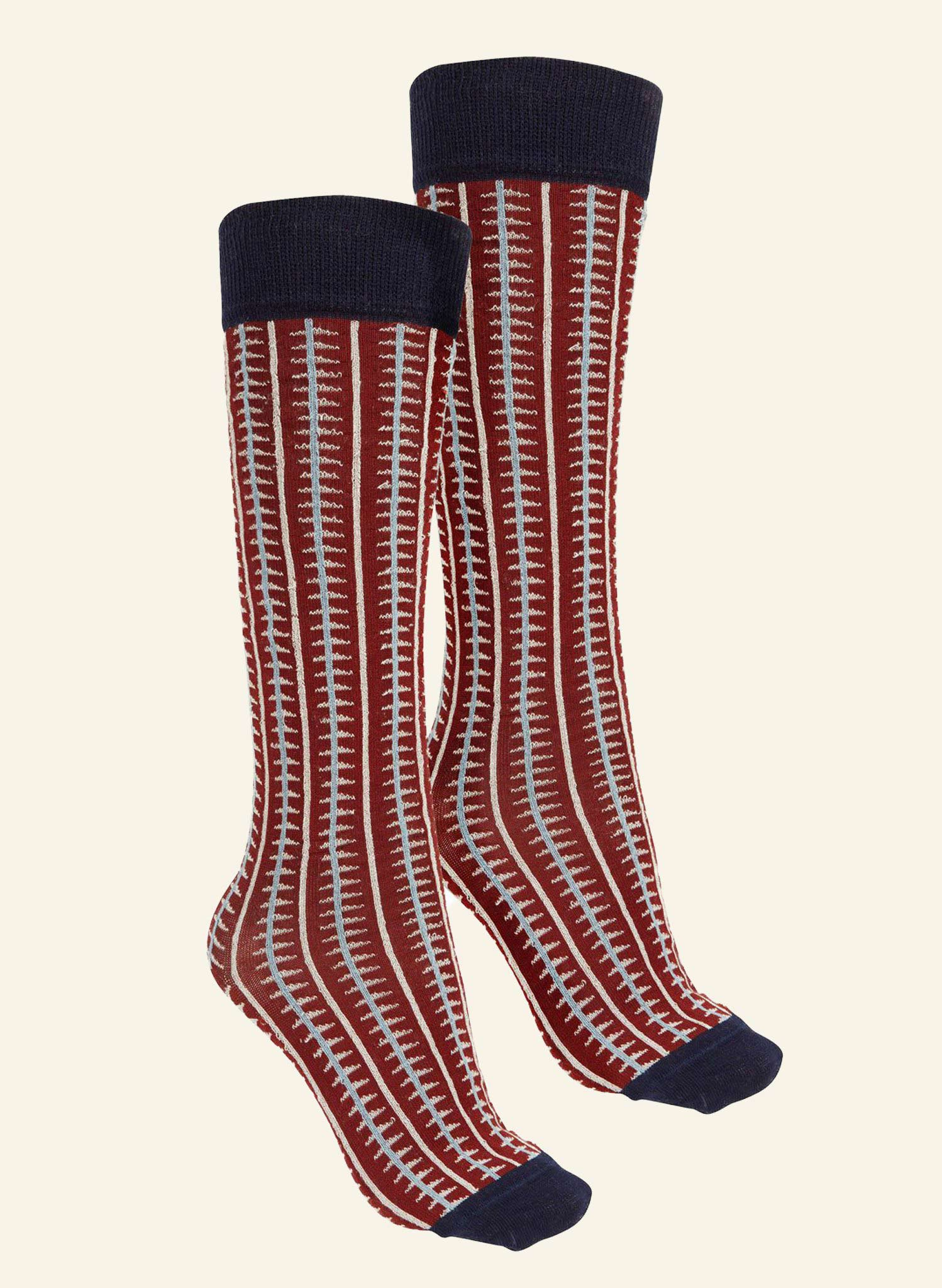 Knee High Socks - Red Rocket - Cotton