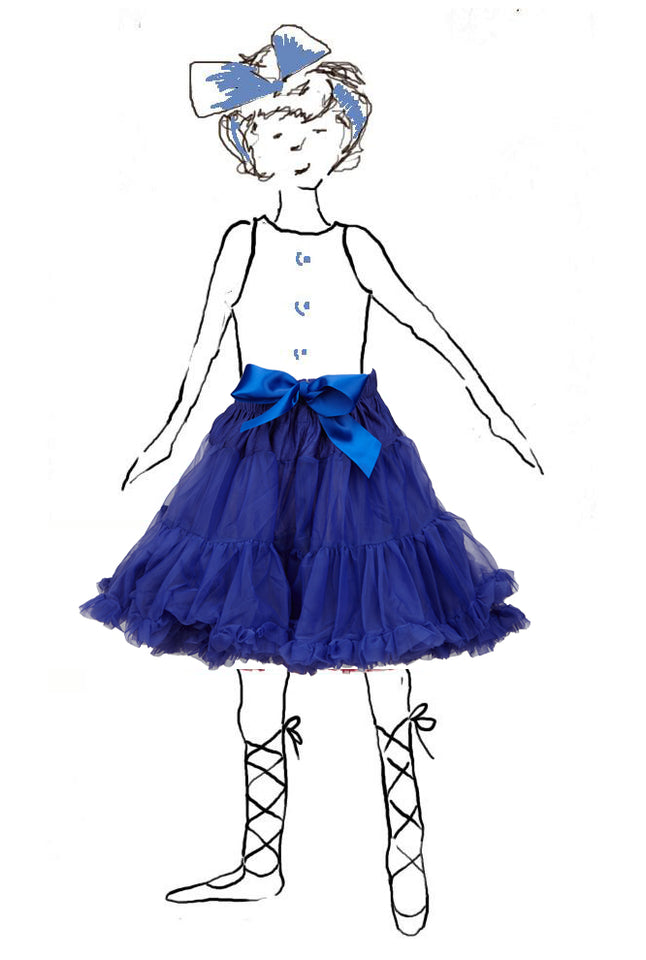 Children's Petticoat - Royal Blue