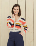 Retro V-Neck Cardigan | Navy, Coral, Mustard, Organic Cotton