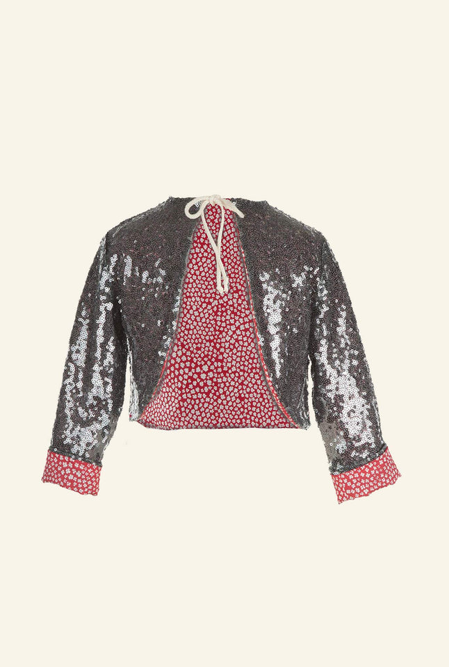 Jacket - Silver Sequin