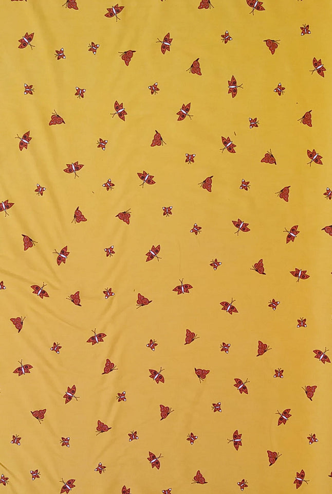 Yellow Leopard Fabric - Cotton Twill