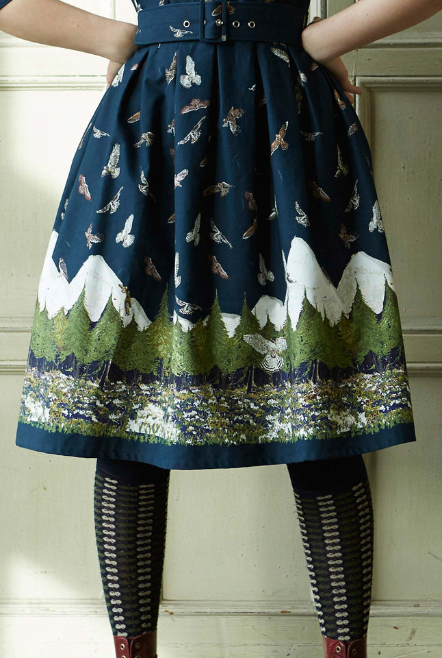 Knee High Socks - Navy Pinecone - Cotton